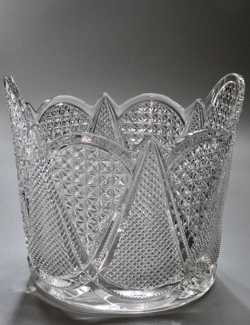 Vintage Pressed Glass Ice Bucket - 8