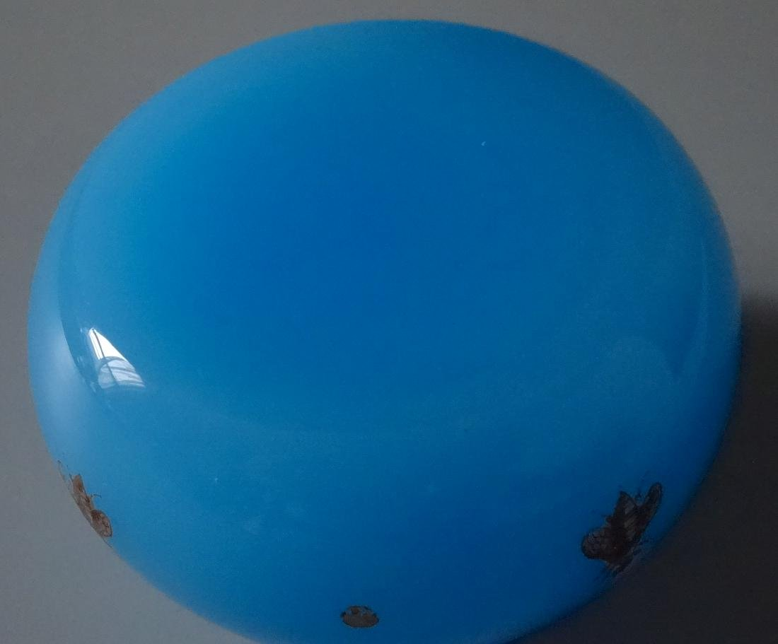 Baccarat Celestial Blue Glass Bee Paperweight France - 4