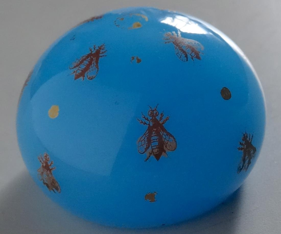 Baccarat Celestial Blue Glass Bee Paperweight France - 6