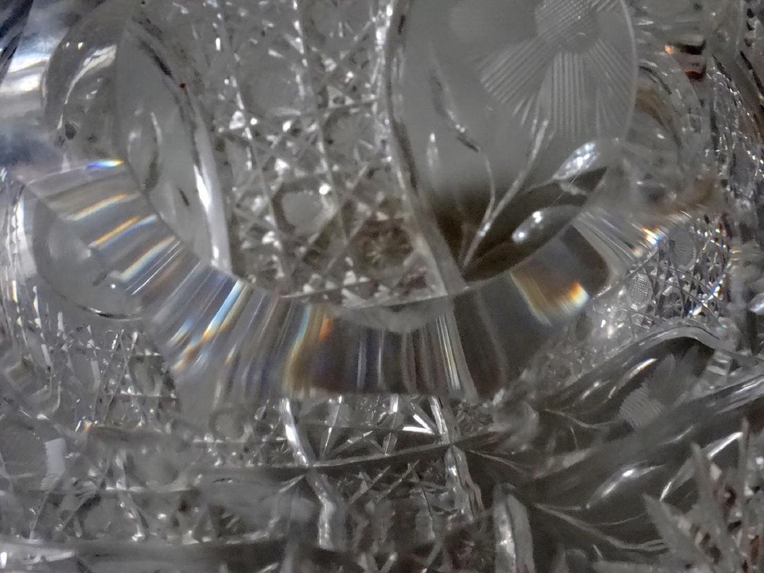Vintage Cut Glass Ball Vase Crystal Rose Bowl - 8