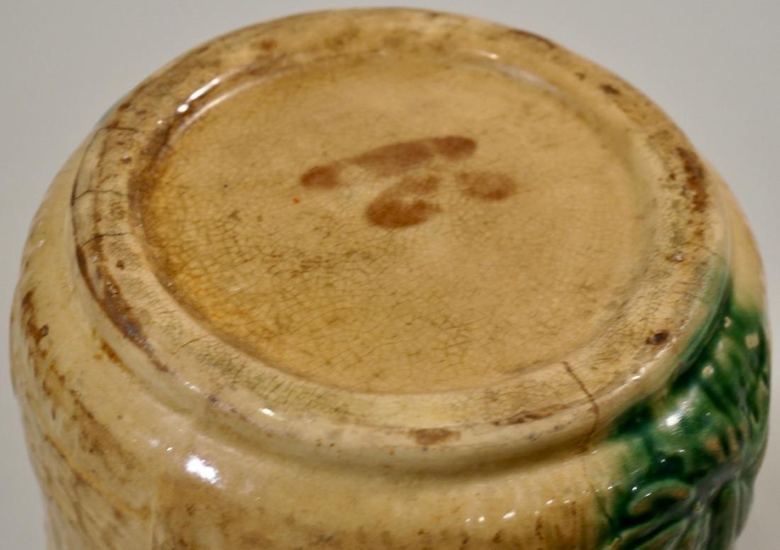 Antique Majolica Yellow Glazed Pitcher Jug - 6