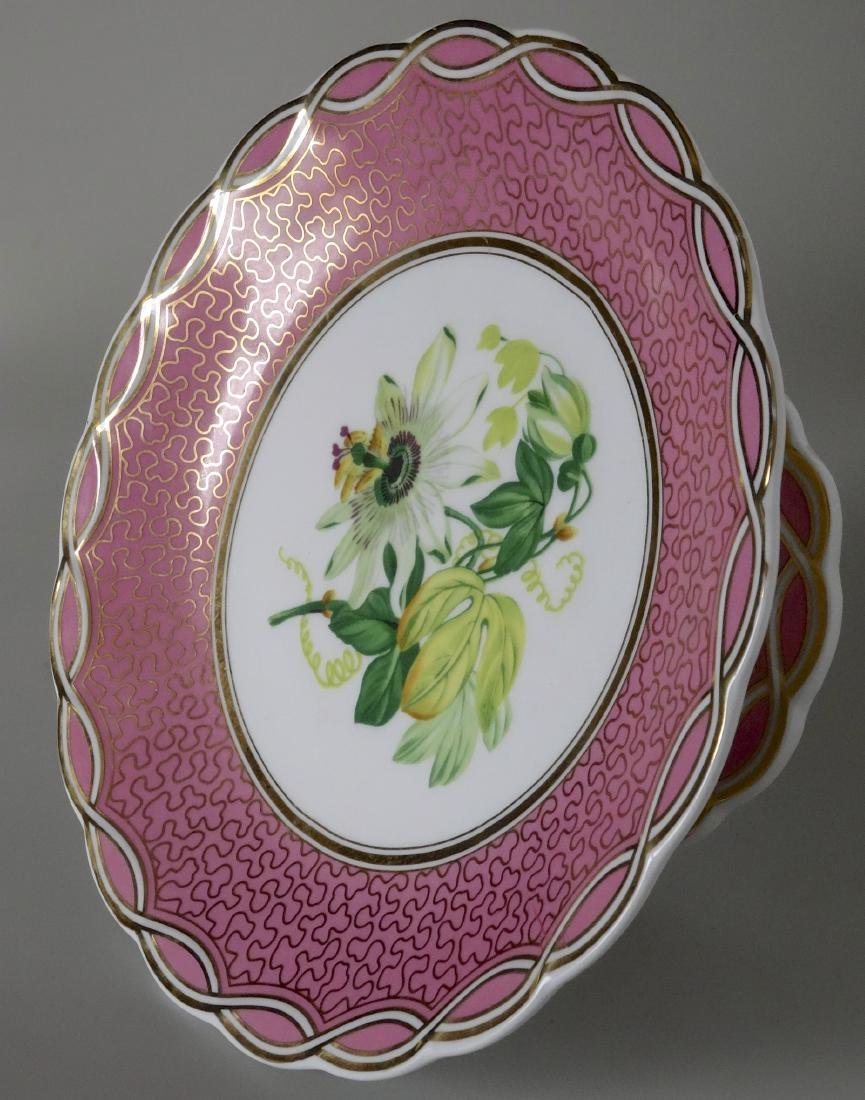 Old Paris Porcelain Pink Plate Compote Cake Stand - 2