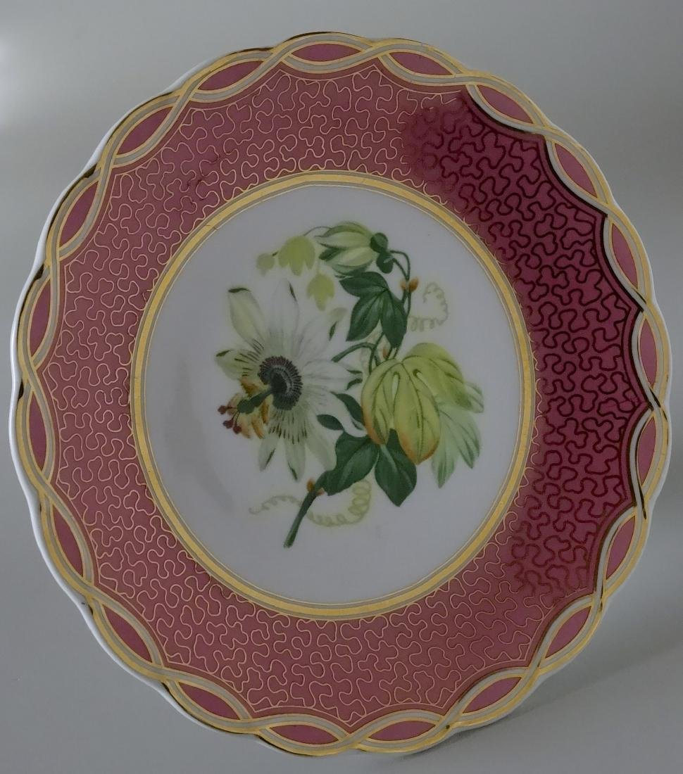 Old Paris Porcelain Pink Plate Compote Cake Stand - 3