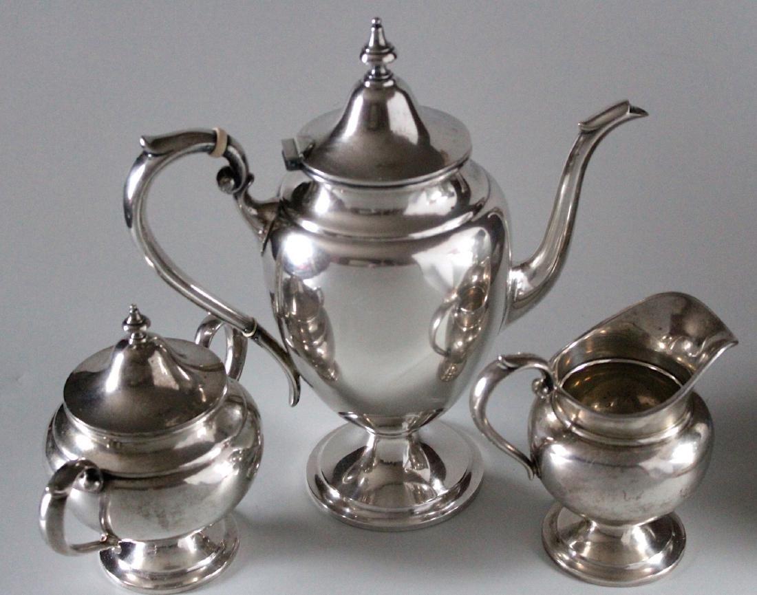 Vintage Gorham Puritan Sterling Silver Coffee Pot Sugar - 2