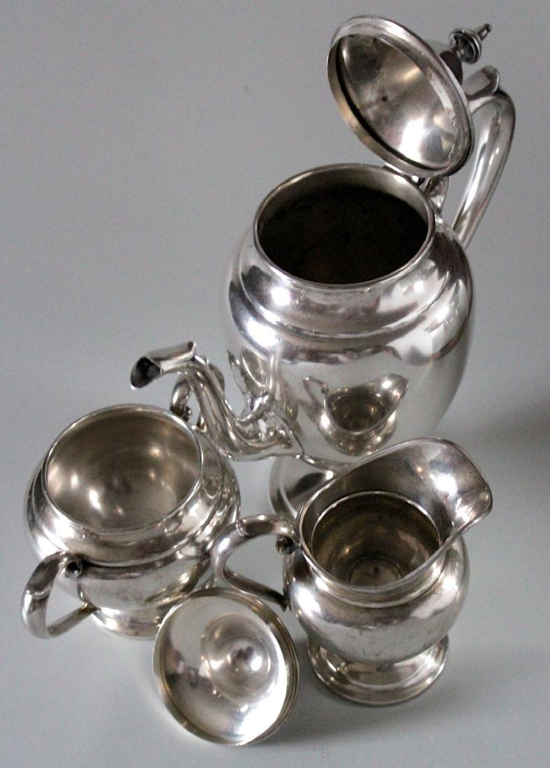 Vintage Gorham Puritan Sterling Silver Coffee Pot Sugar - 3