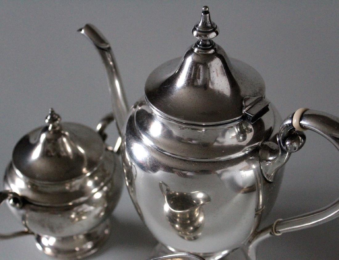 Vintage Gorham Puritan Sterling Silver Coffee Pot Sugar - 4