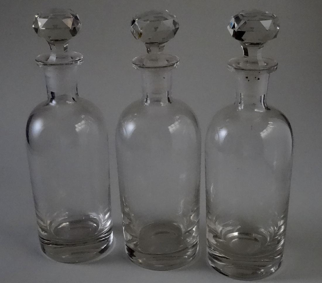 Polished Pontil Spirit Decanter Bottle Faceted Cut