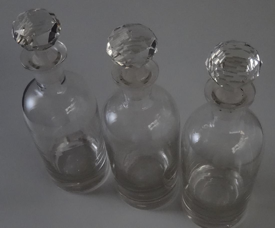 Polished Pontil Spirit Decanter Bottle Faceted Cut - 2