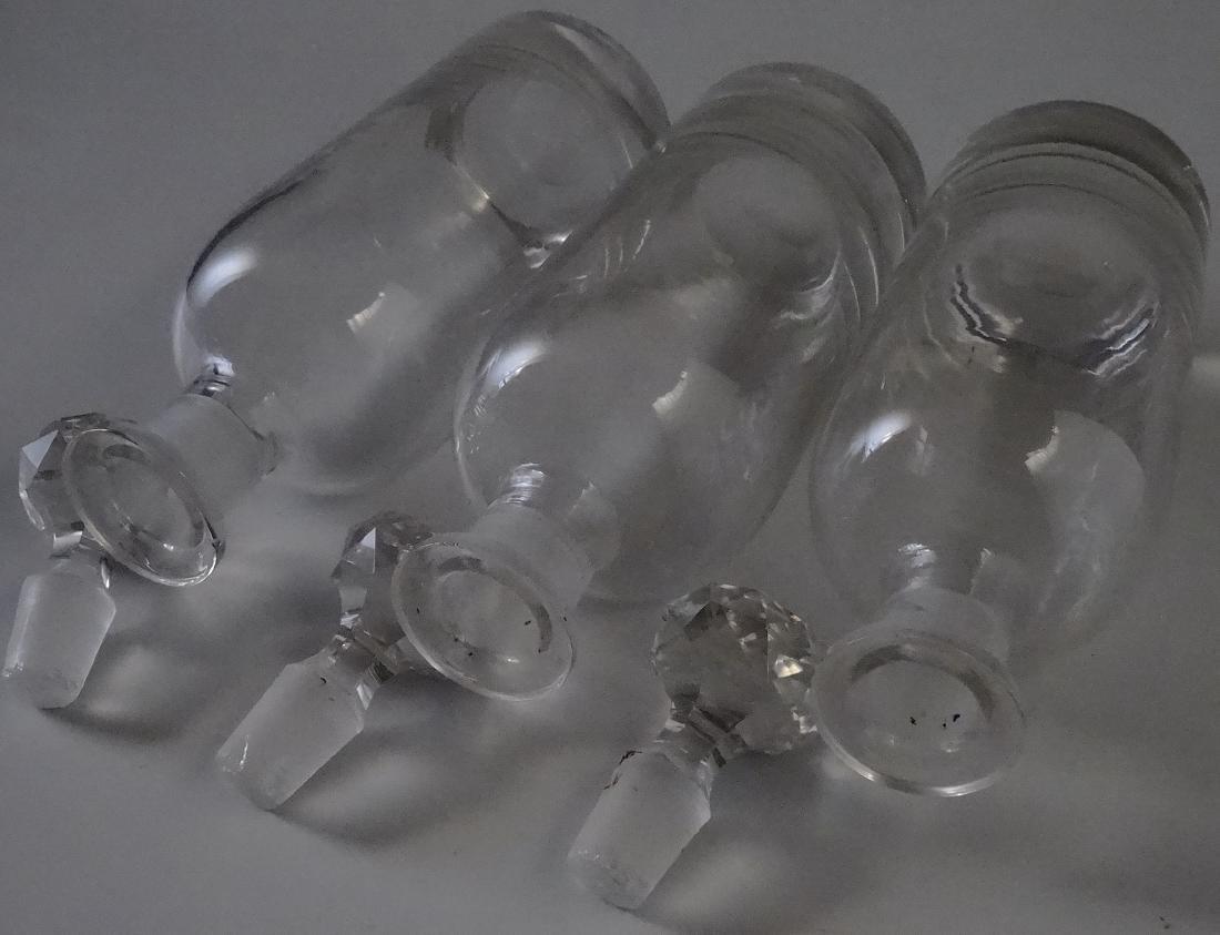 Polished Pontil Spirit Decanter Bottle Faceted Cut - 4