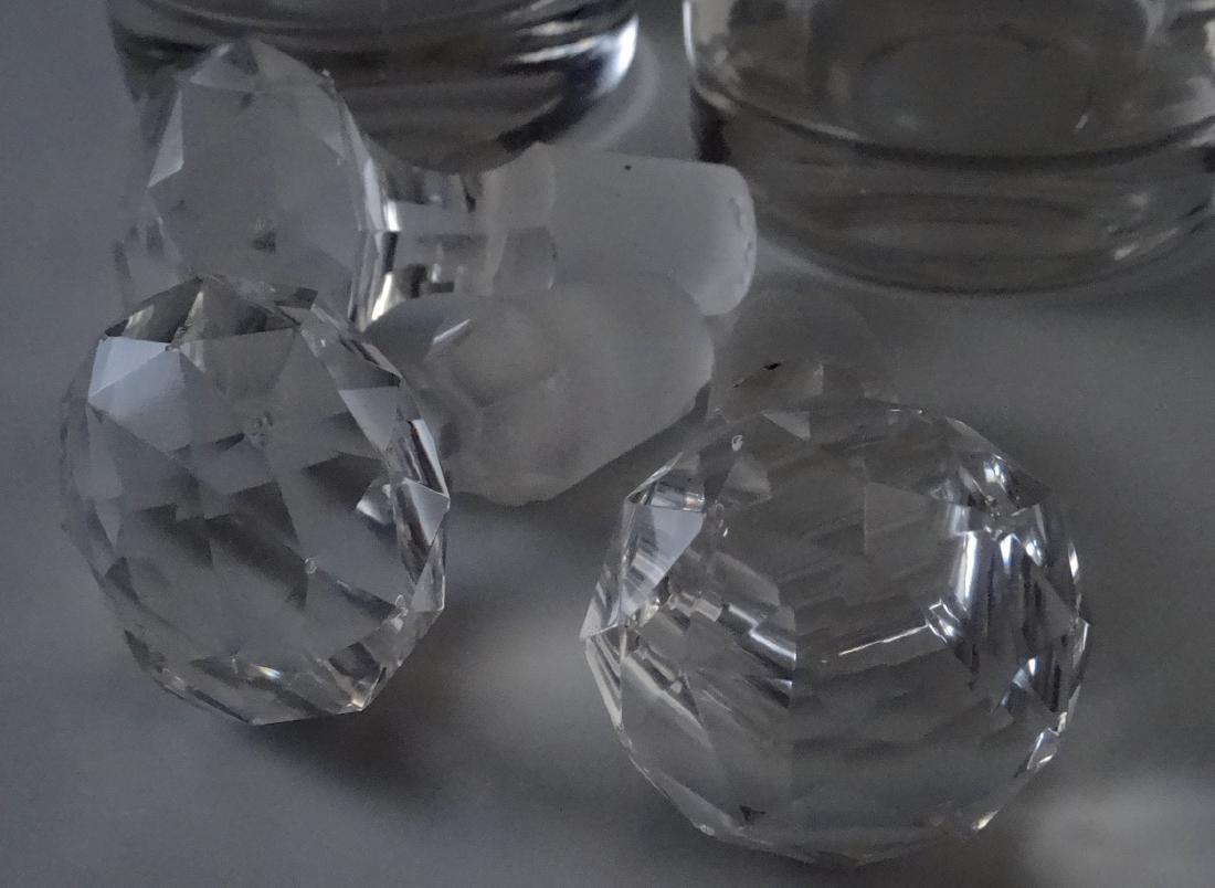 Polished Pontil Spirit Decanter Bottle Faceted Cut - 6
