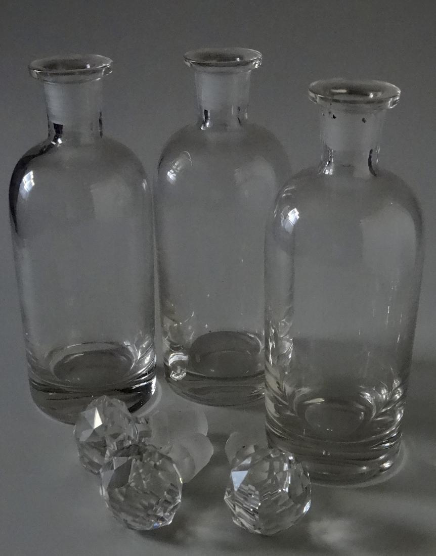 Polished Pontil Spirit Decanter Bottle Faceted Cut - 7