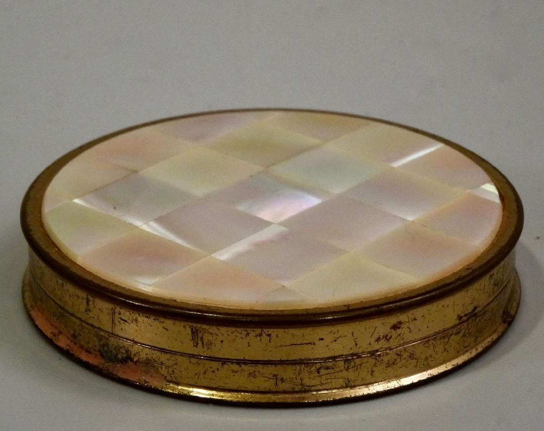 Mother Of Pearl Inlay Compact Round Powder Box - 3