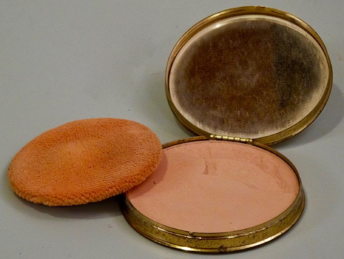 Mother Of Pearl Inlay Compact Round Powder Box - 5