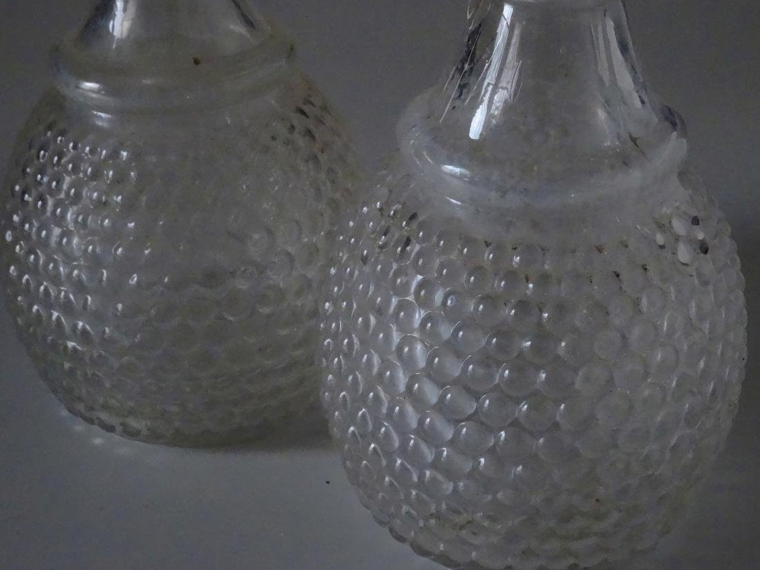 2 Early American Glass Wine Decanters 3 Mold Blown New - 3