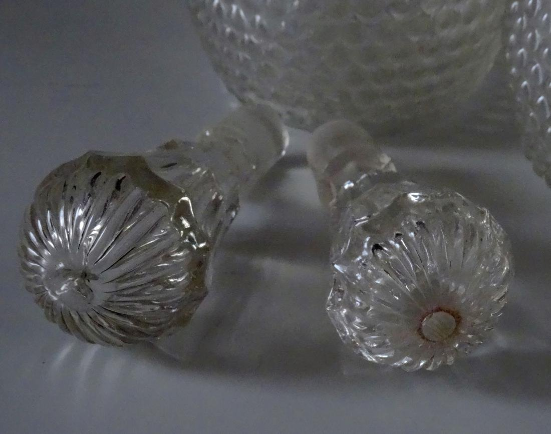 2 Early American Glass Wine Decanters 3 Mold Blown New - 5