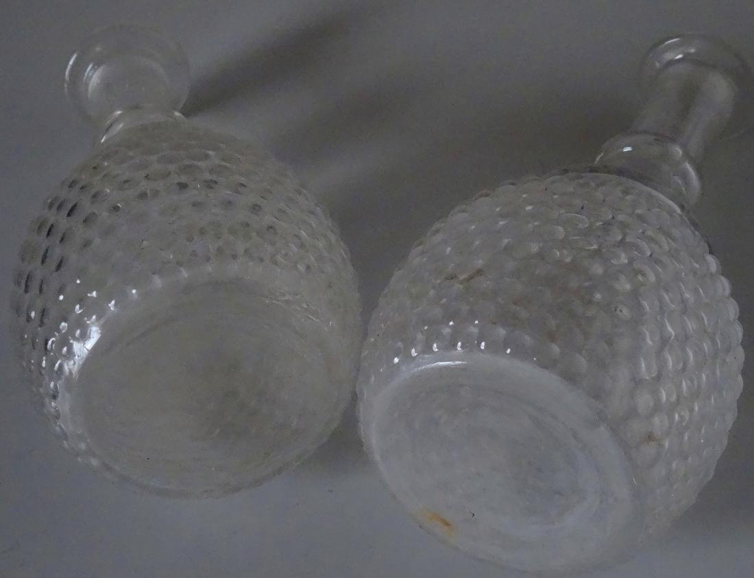2 Early American Glass Wine Decanters 3 Mold Blown New - 6