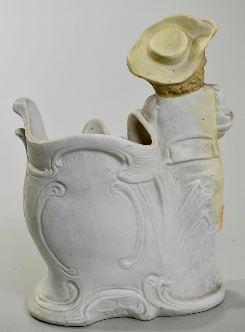 German Gardening Boy Antique Bisque Porcelain Spill - 3