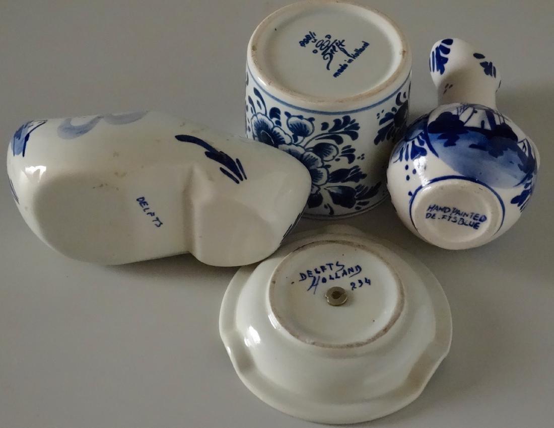Dutch Delft Holland Small Porcelain Souvenir Ashtray - 4