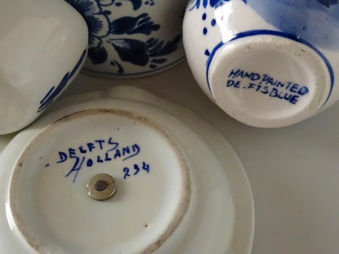 Dutch Delft Holland Small Porcelain Souvenir Ashtray - 5