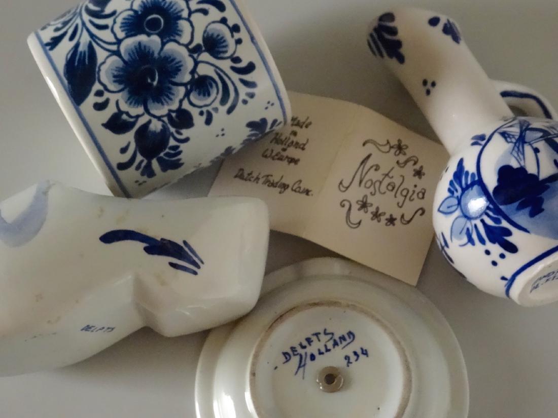 Dutch Delft Holland Small Porcelain Souvenir Ashtray - 6