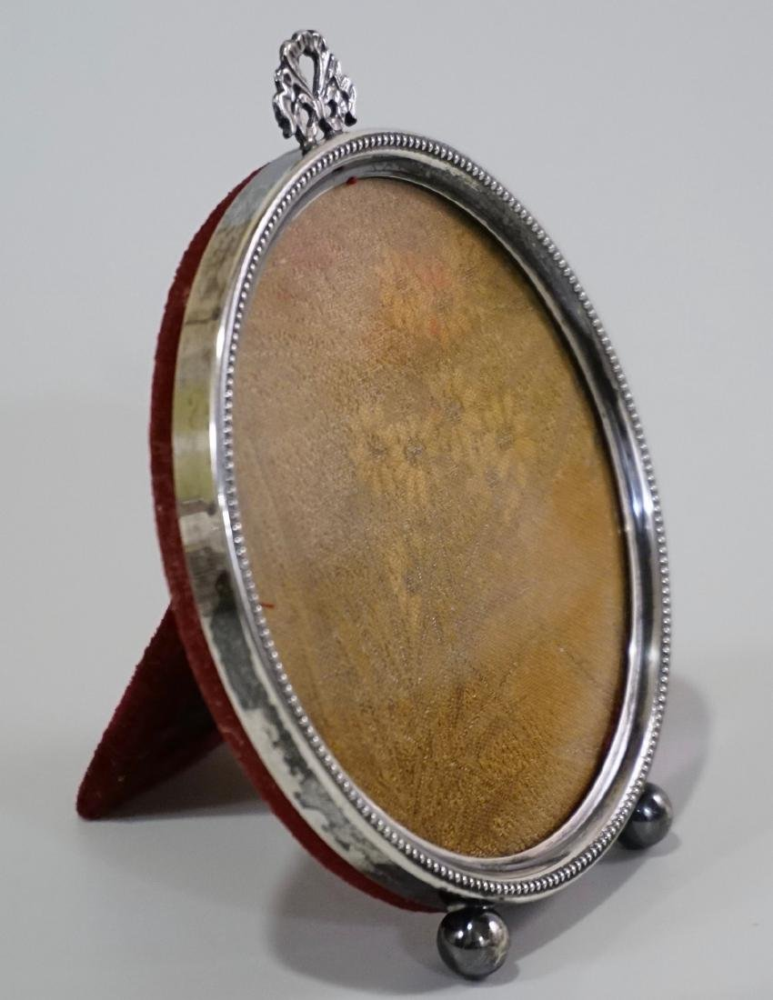 Sterling Silver Frame Round Picture Photo Frame