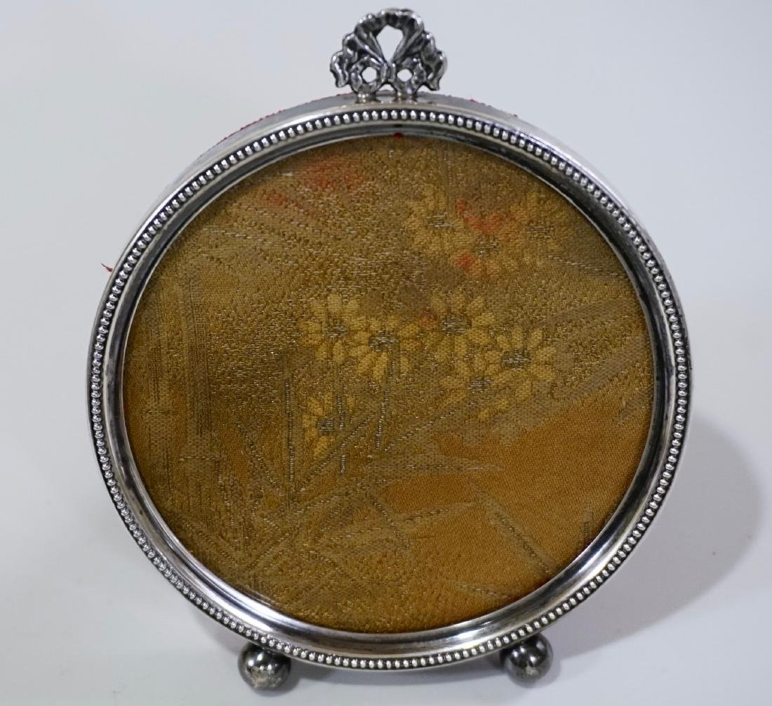 Sterling Silver Frame Round Picture Photo Frame - 2
