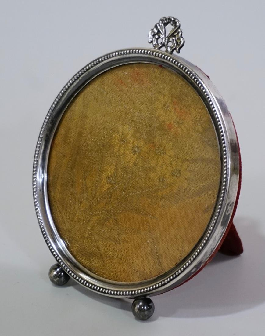 Sterling Silver Frame Round Picture Photo Frame - 3