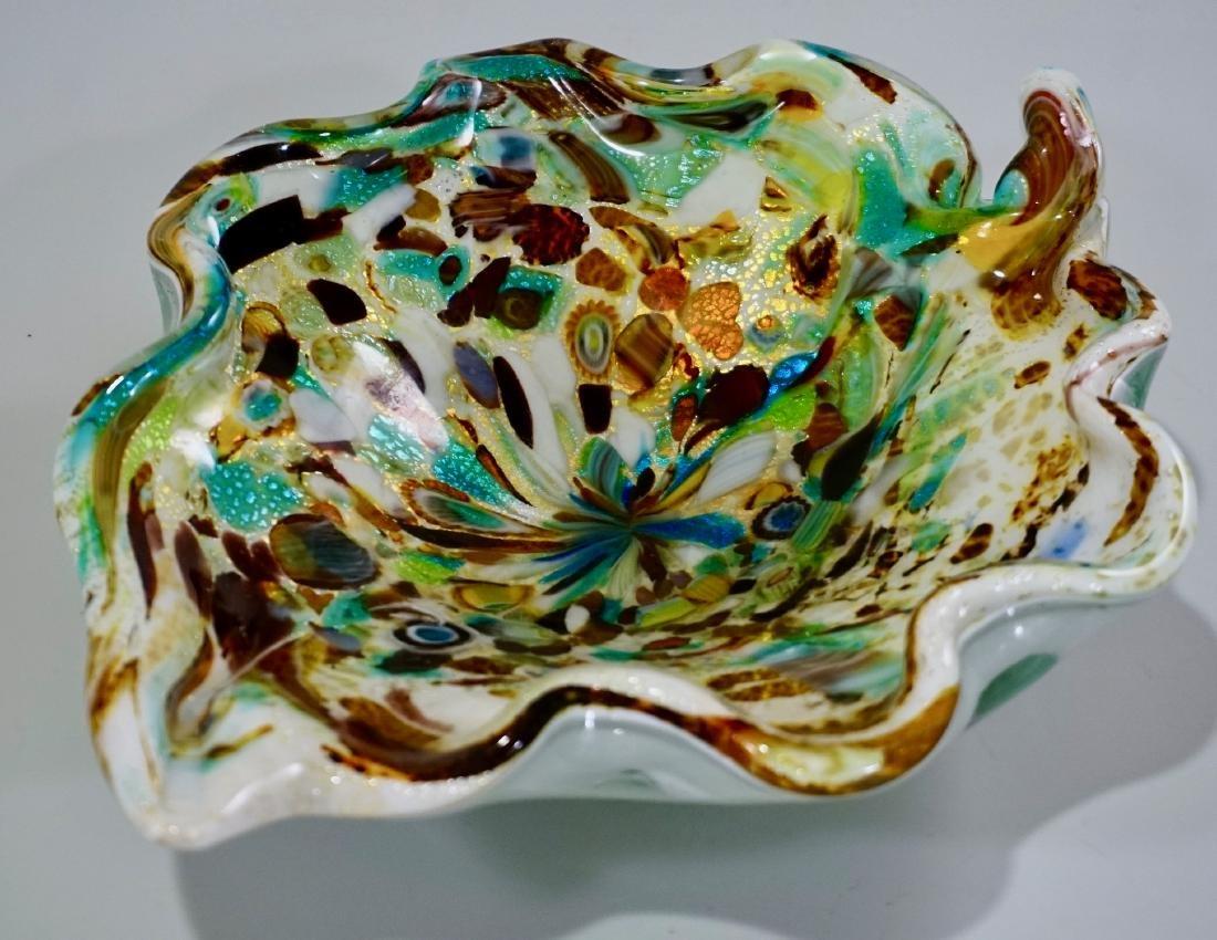 Vintage Confetti Murano Italian Art Glass Bowl