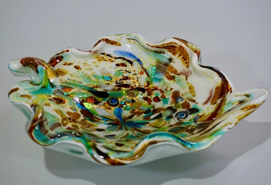 Vintage Confetti Murano Italian Art Glass Bowl - 2
