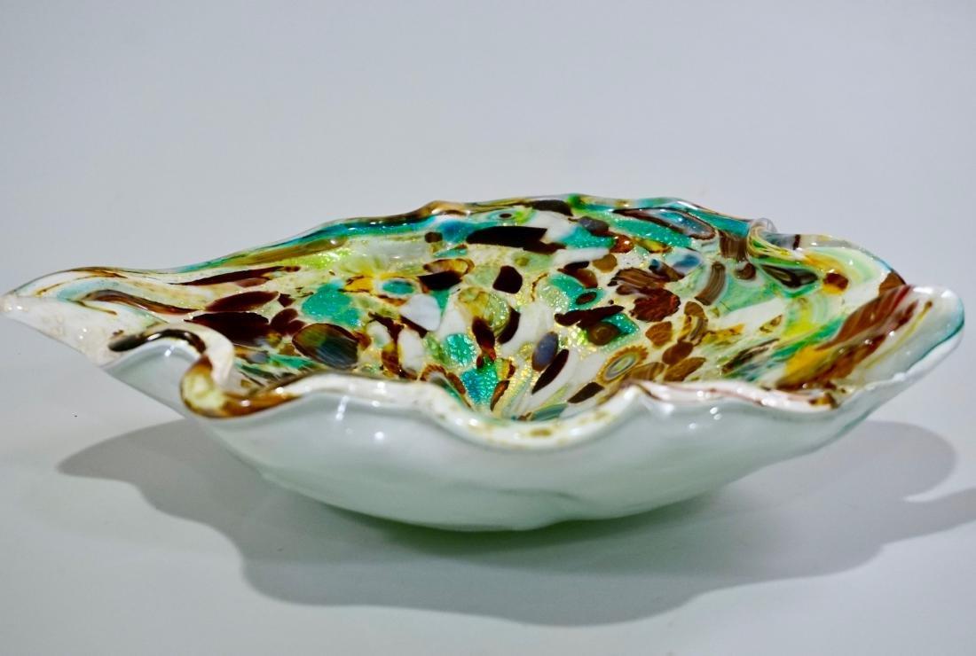 Vintage Confetti Murano Italian Art Glass Bowl - 3