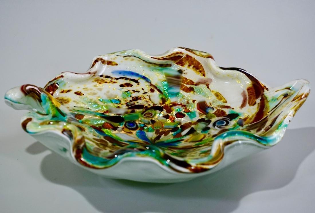 Vintage Confetti Murano Italian Art Glass Bowl - 4