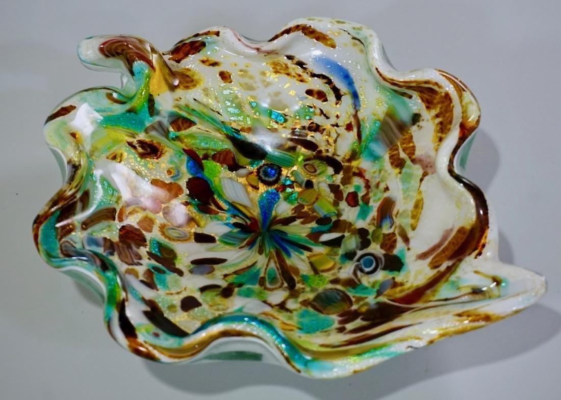Vintage Confetti Murano Italian Art Glass Bowl - 5