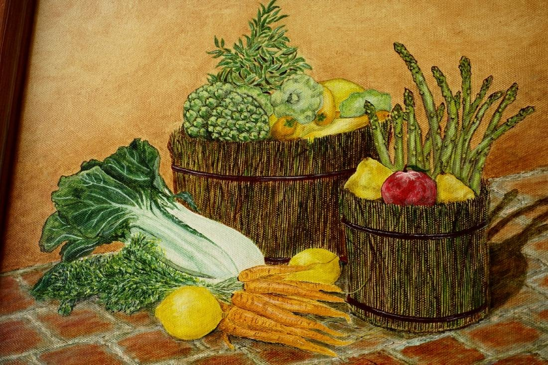 Market Vegetables Oil on Canvas Painting