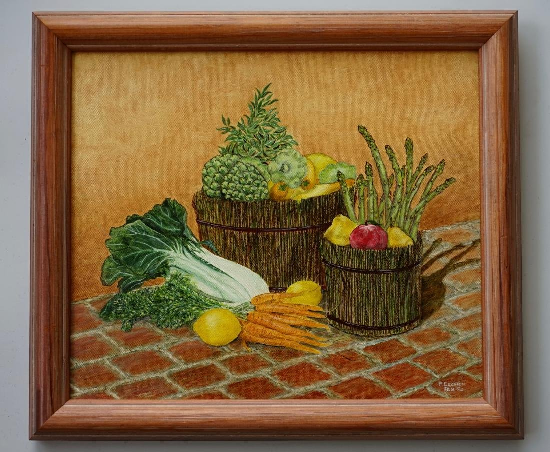 Market Vegetables Oil on Canvas Painting - 2