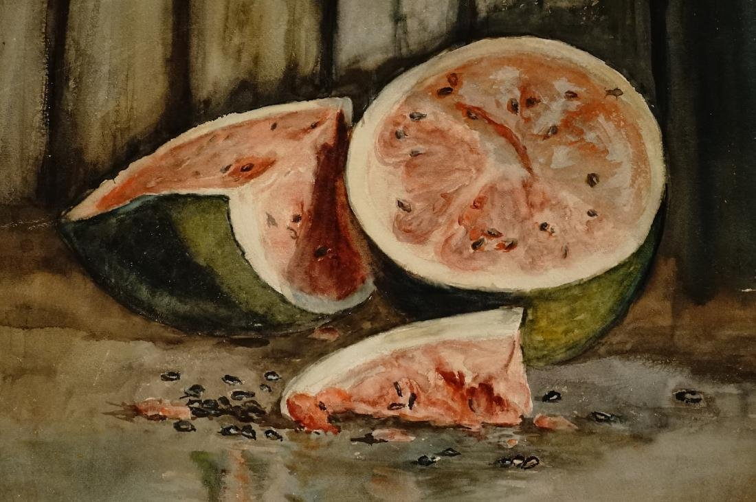 Antique Watermelon Watercolor on Paper