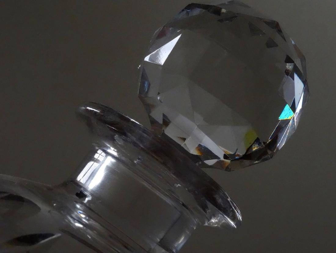 Large Cut Lead Crystal Perfume Bottle - 2