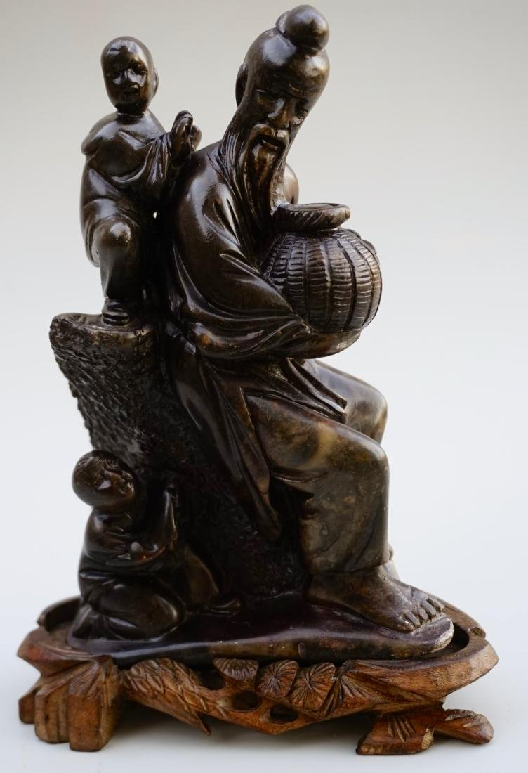 Chinese Soapstone Carved Group