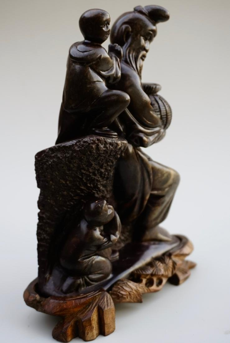 Chinese Soapstone Carved Group - 2