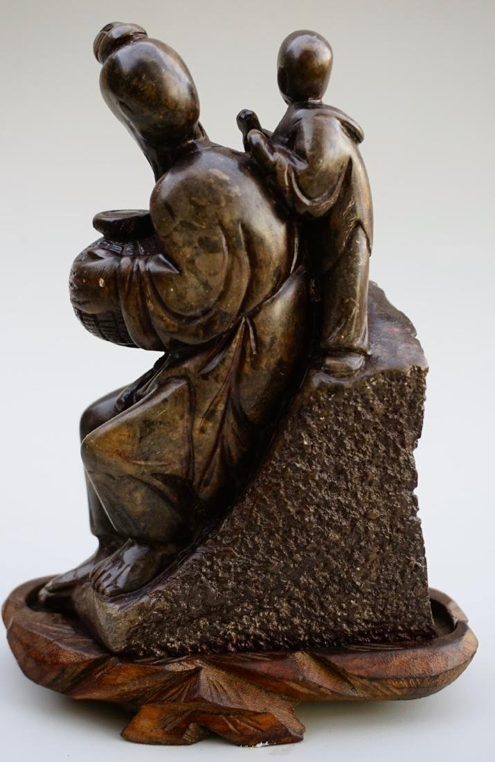 Chinese Soapstone Carved Group - 3