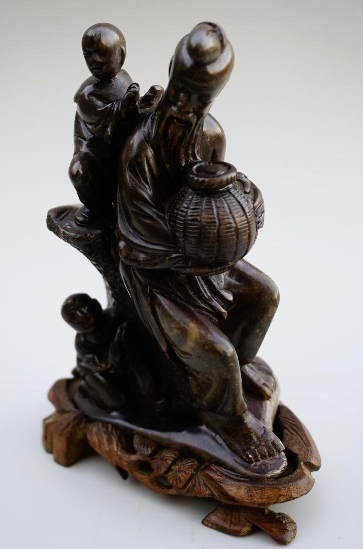 Chinese Soapstone Carved Group - 4