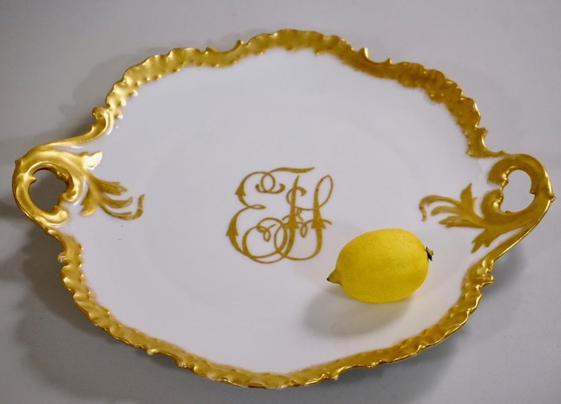 Rosenthal RC Monbijou Bavaria White Gold Cake Platter