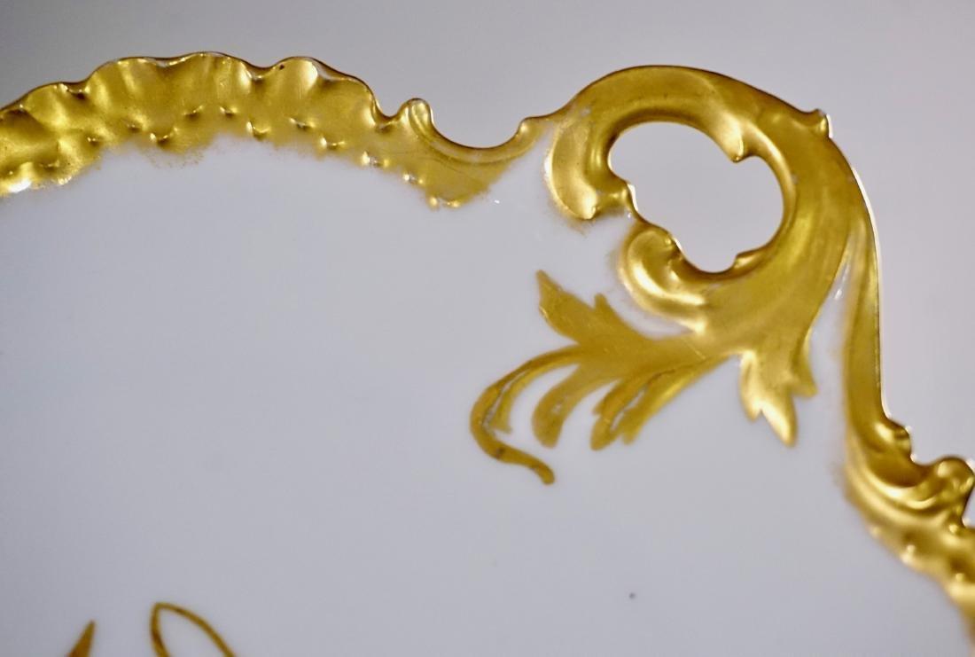 Rosenthal RC Monbijou Bavaria White Gold Cake Platter - 3