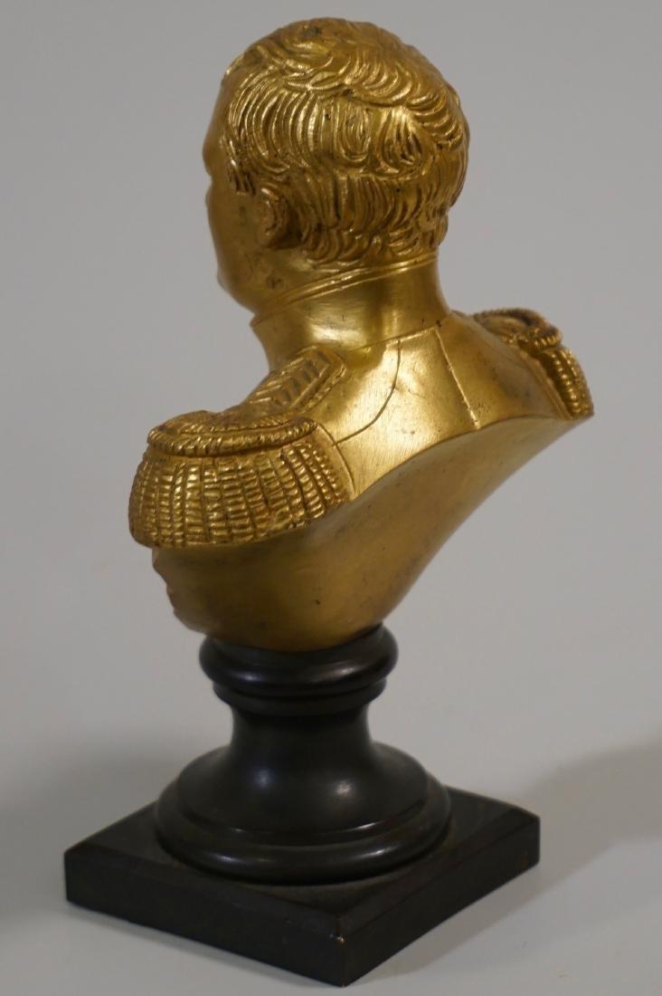 Antique French Gilded Napoleon Bust Bronze Desktop - 4