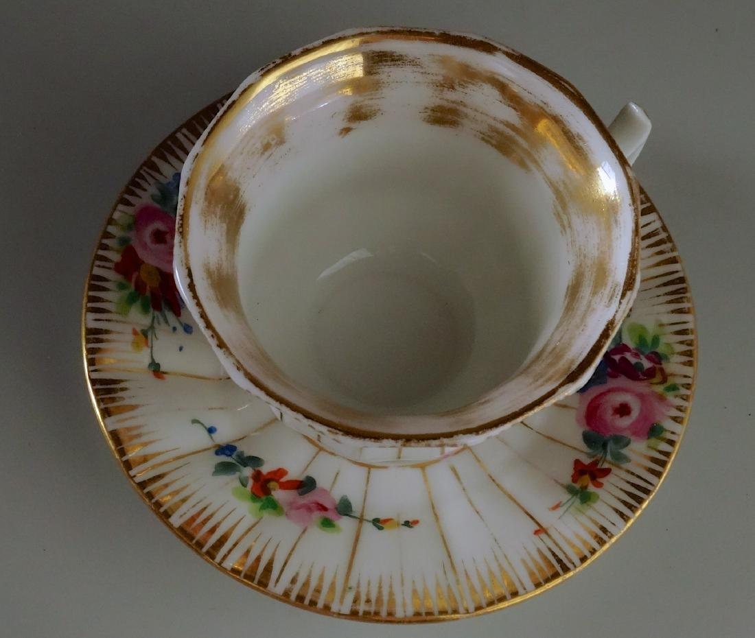 Old Paris Porcelain Demitasse Painted Cup and Saucer - 3