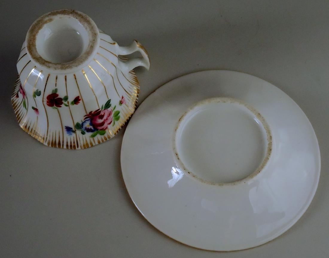 Old Paris Porcelain Demitasse Painted Cup and Saucer - 5