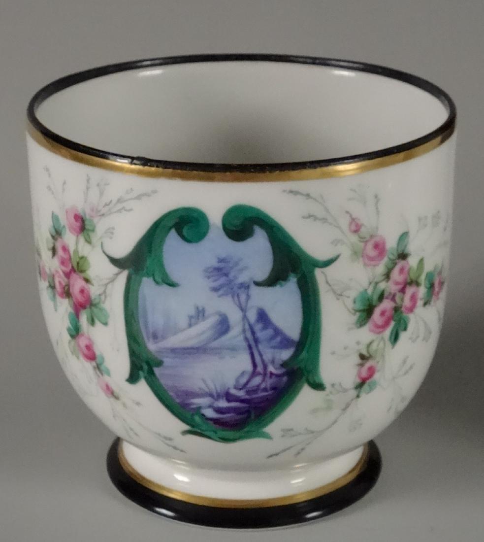 Old Paris Hand Painted Porcelain Cachepot Jardiniere
