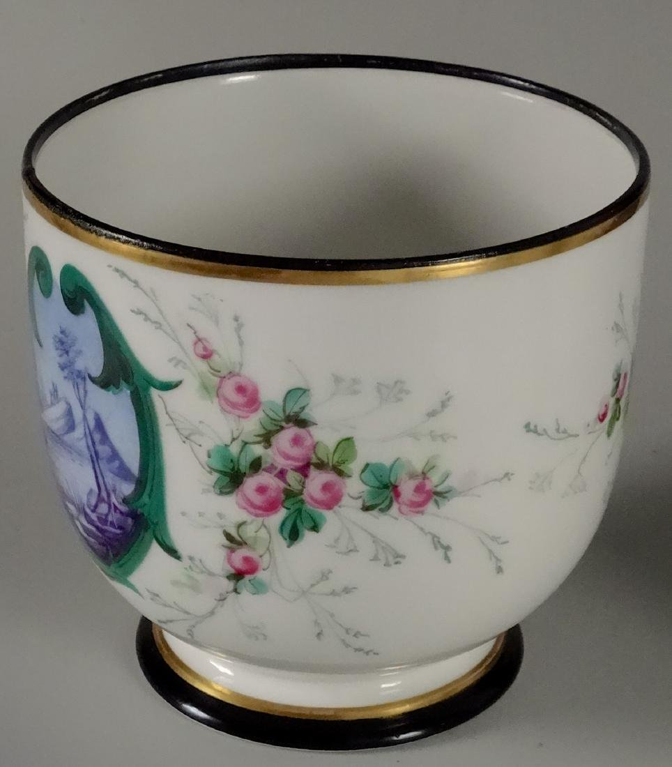 Old Paris Hand Painted Porcelain Cachepot Jardiniere - 2