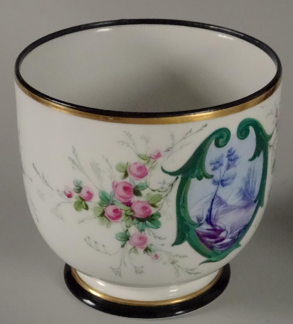 Old Paris Hand Painted Porcelain Cachepot Jardiniere - 3