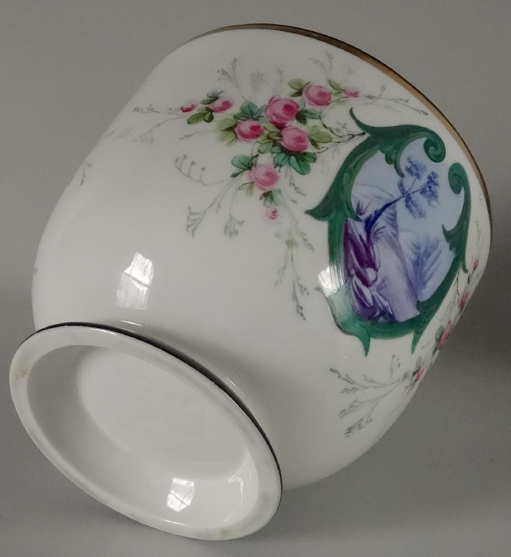 Old Paris Hand Painted Porcelain Cachepot Jardiniere - 5