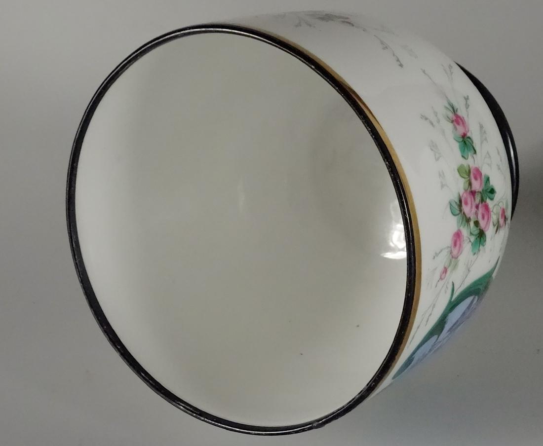 Old Paris Hand Painted Porcelain Cachepot Jardiniere - 6